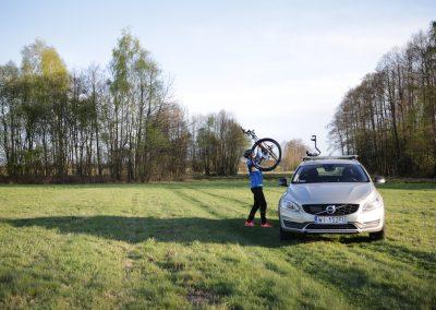 Umieszczanie roweru