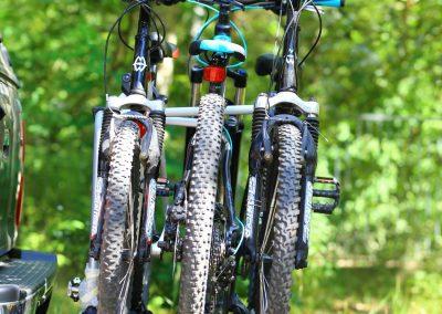 Rowery w bagażniku Thule na hak